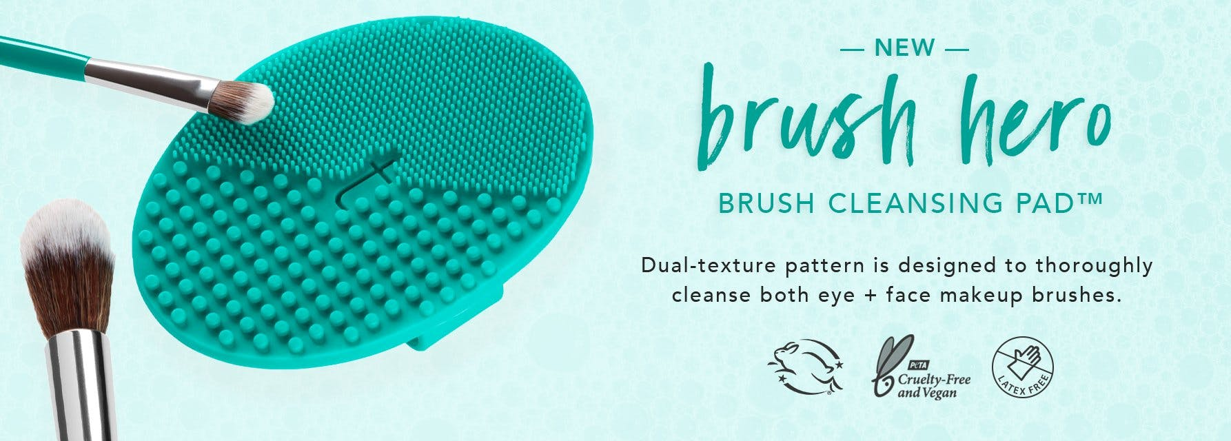 makeup brushes and cleansing pad