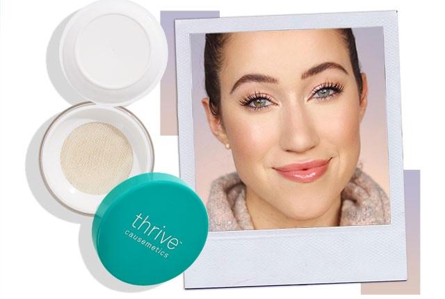 Allie Glines reviews vegan makeup setting powder