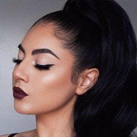 Vanessa Chicas wearing eyebrow gel
