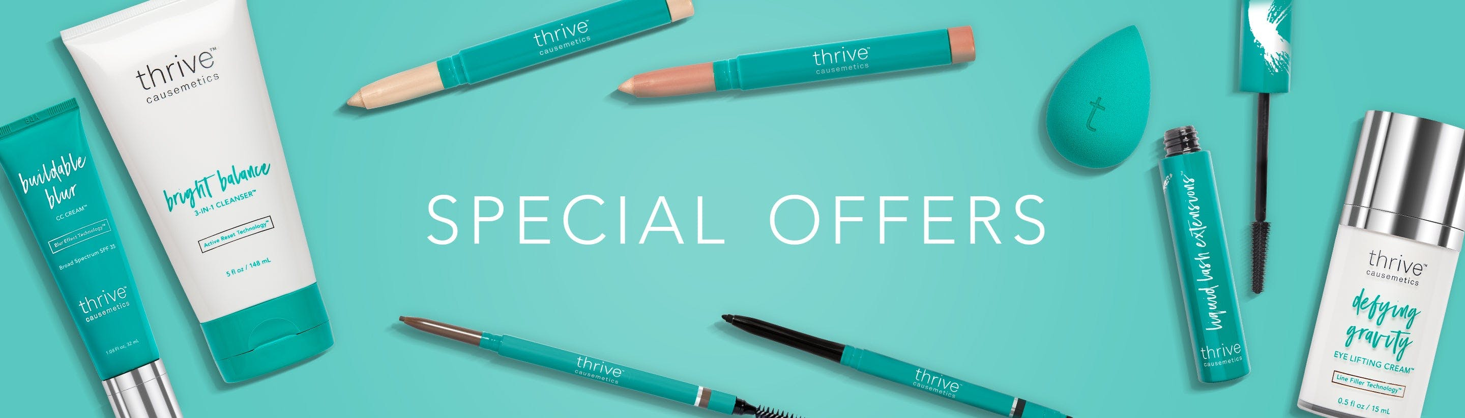 Learn about FREE Makeup Bags, Thrive Rewards + all of our other special offers!