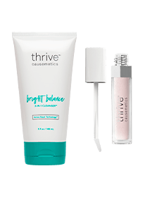 skin cleanser and overnight face mask