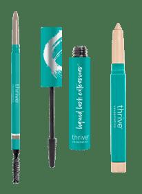 Waterproof eye brightener and eyebrow liner