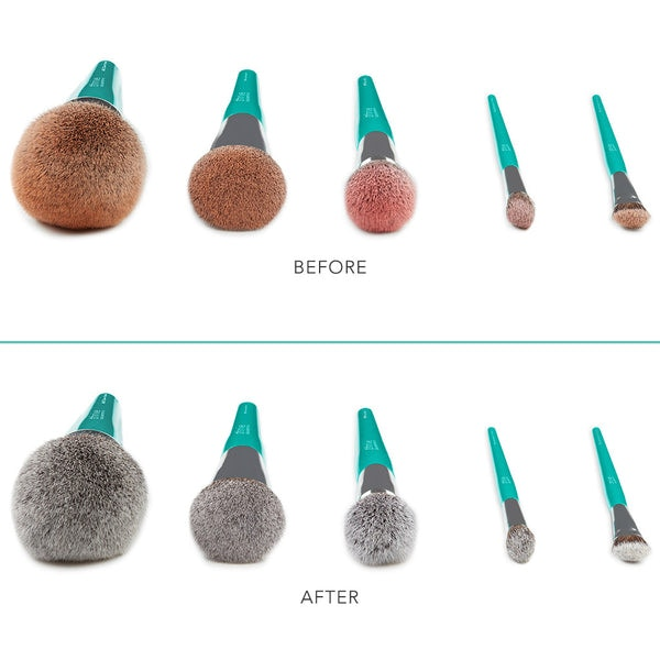 vegan silicone brush cleansing pad before and after