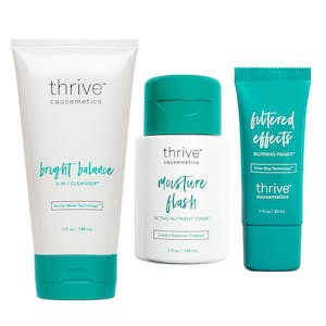 Bright Balance 3-in-1 Cleanser™ / Moisture Flash Active Nutrient Toner™ / Filtered Effects Blurring Primer™