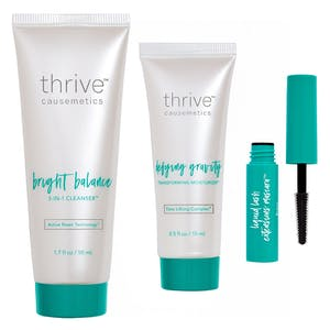 Deluxe Travel Bright Balance 3-in-1 Cleanser™ / Deluxe Travel Defying Gravity Transforming Moisturizer™ / Brynn (Rich Black)